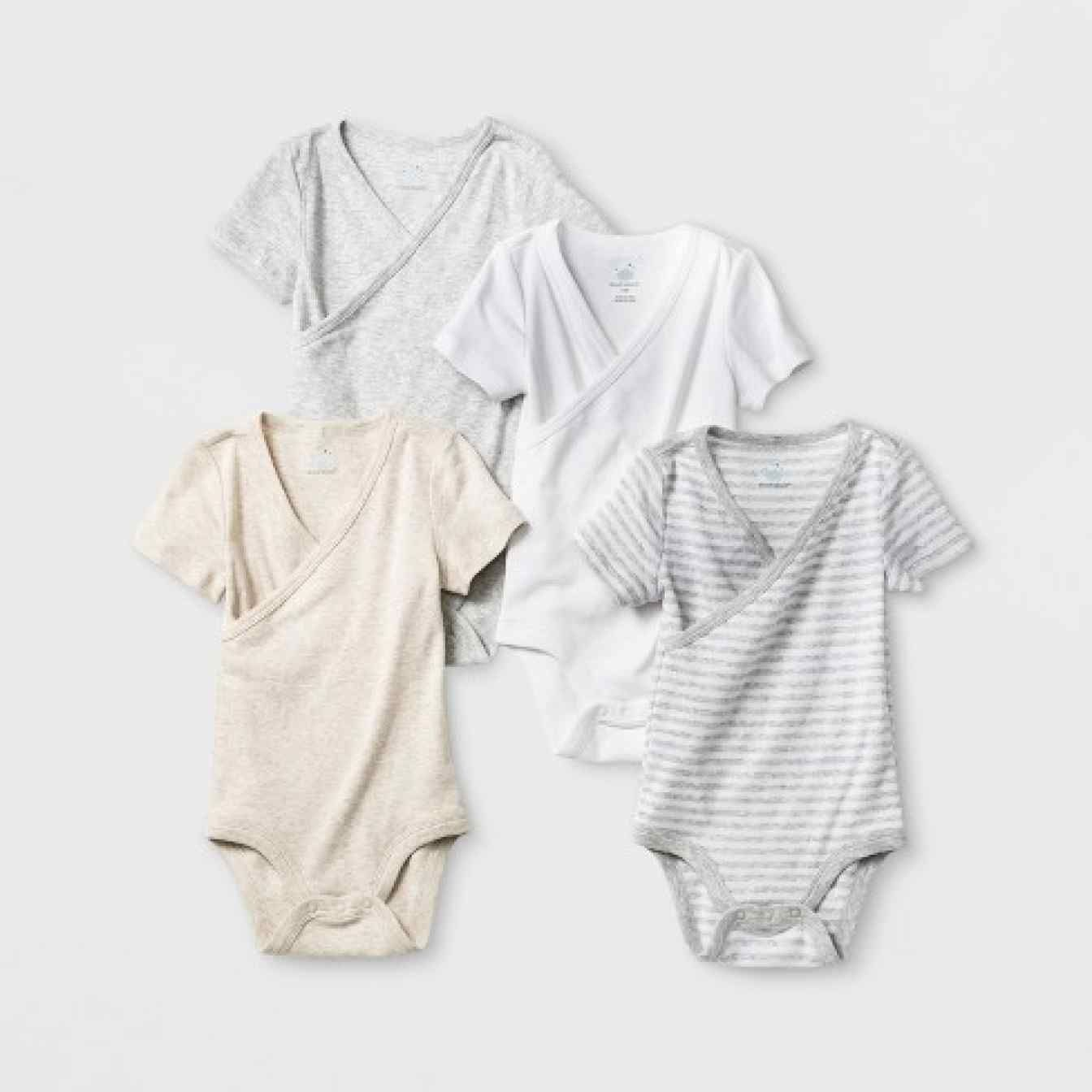 Baby Bodysuits Cloud Island 4 Pack Short Sleeve One Piece 6-9 Months /& 12 Months