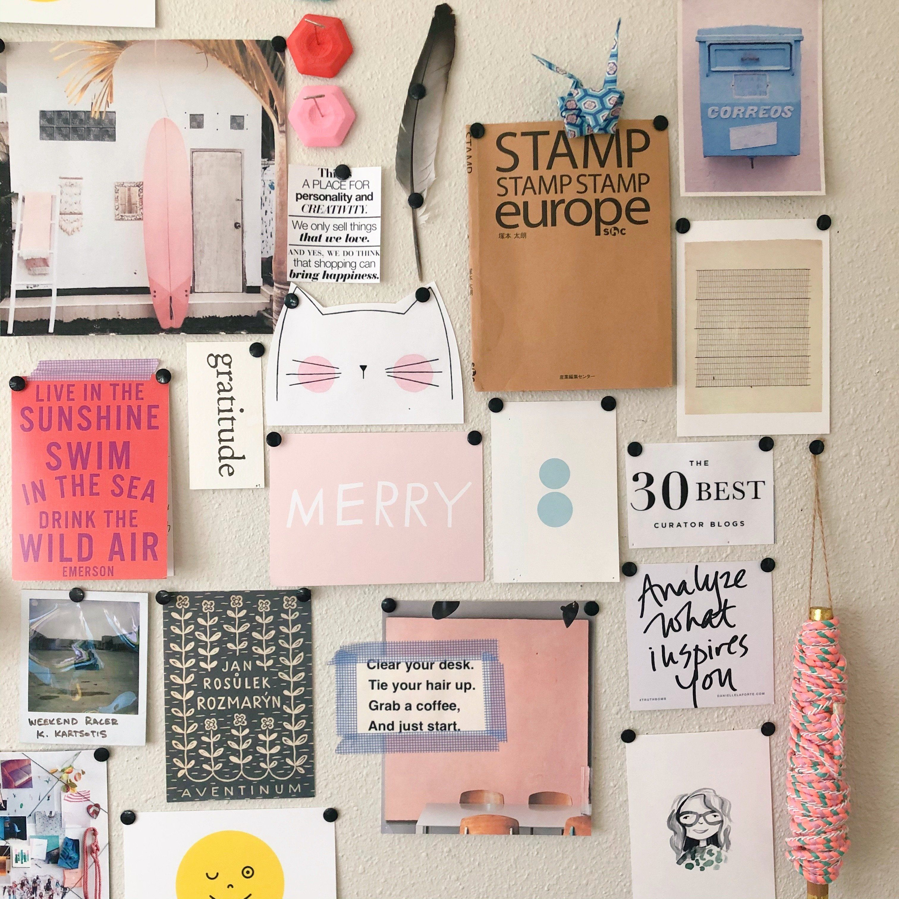 Vision Board with Trinkets and Souvenirs