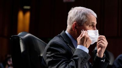 Sen. Rand Paul demands Dr. Fauci point to scientific data showing vaccinated people need to wear masks. He doesn't.