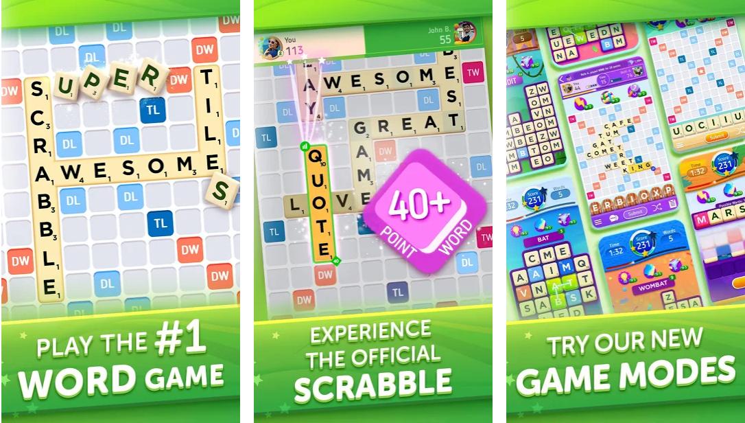 Online scrabble game against computer