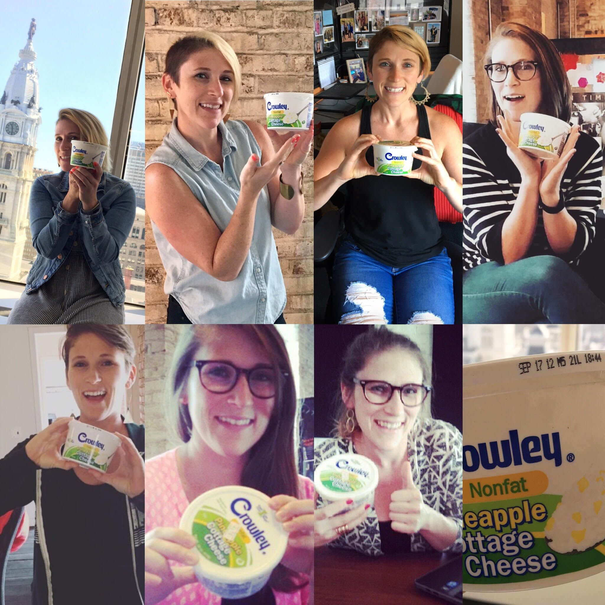 Woman Holds Anniversary Photoshoot With Cottage Cheese Left In The Office Fridge For Seven Years