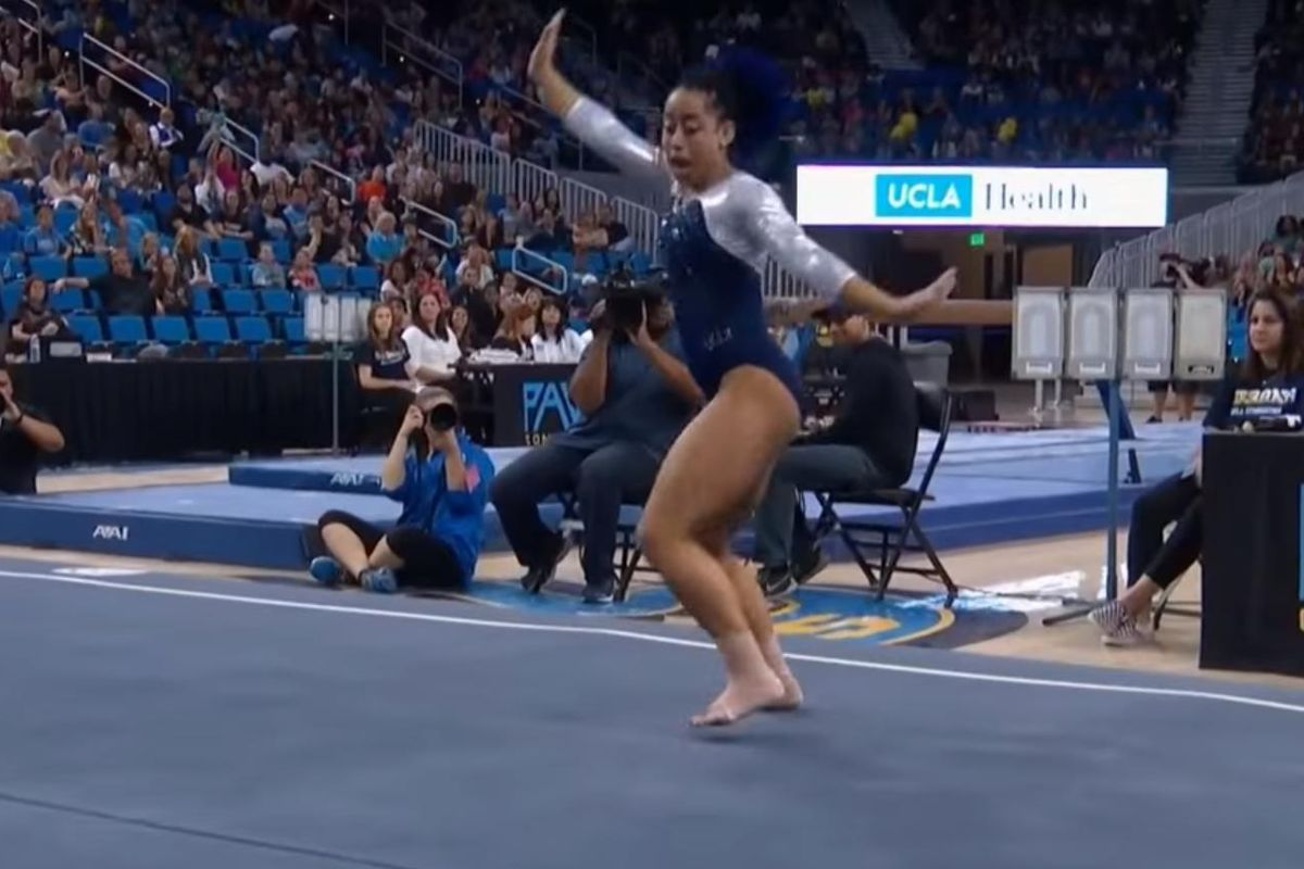 Watch A Gymnast Whip, Hit The Quan And Dab Mid-Routine