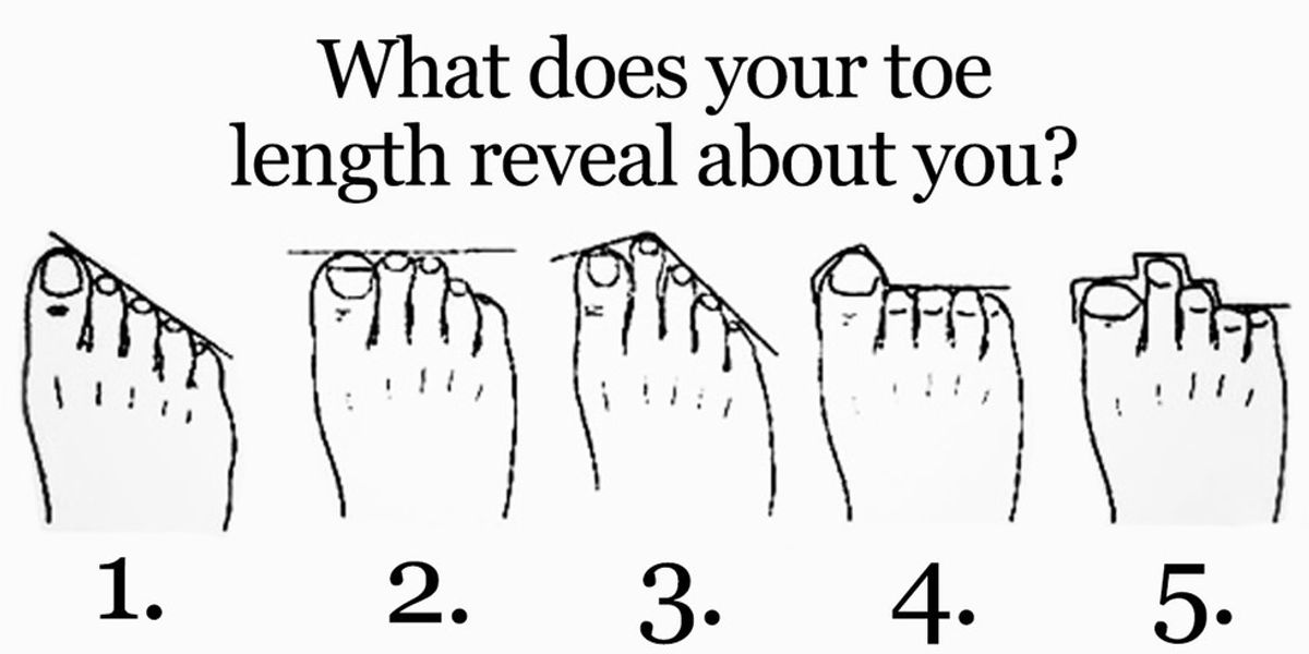 This Is What Your Toe Length Reveals About Your Personality Higher Perspective
