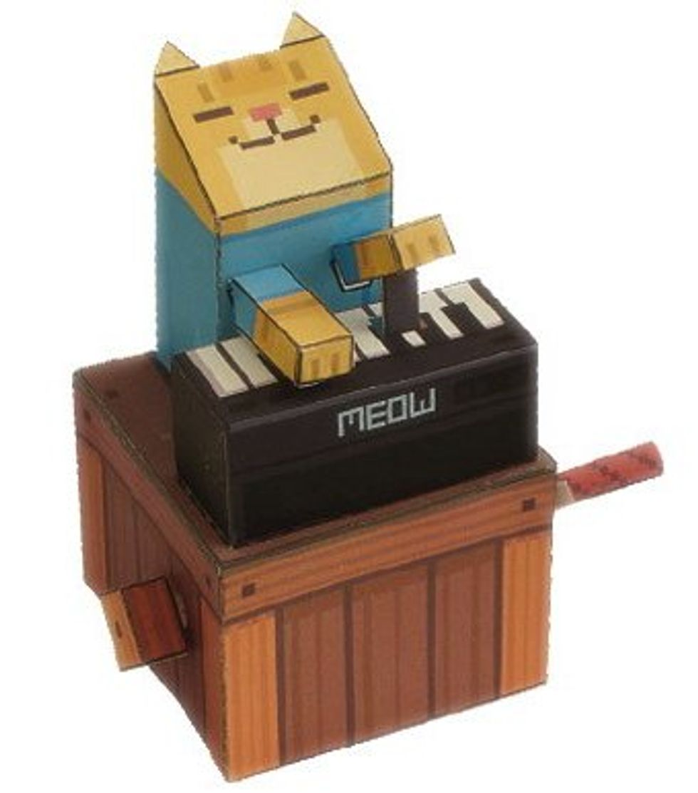 Papercraft Keyboard Cat
