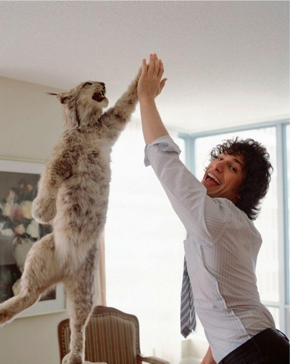 Bobcat High Fiving Andy Samberg