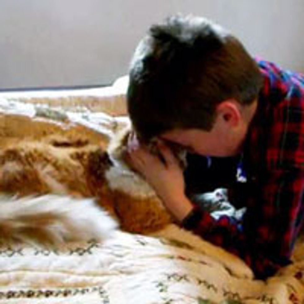 10-Year-Old Boy Reunites With Missing Kitty