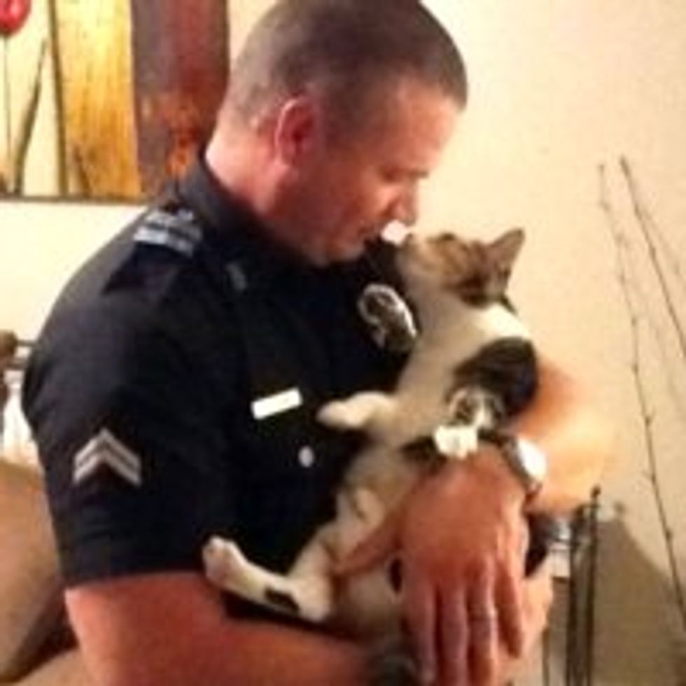Police Officer & His Beloved Rescue Cats