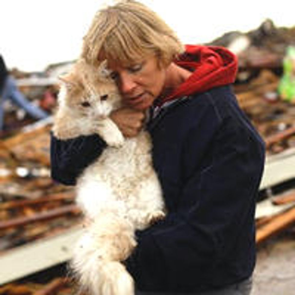 Emotional Reunion With Beloved Cat Found In Moore Oklahoma Tornado Rubble