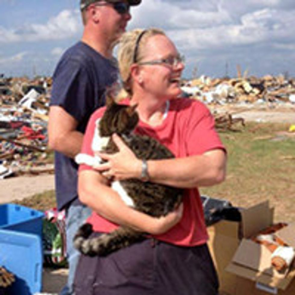 Boy Scout Uncovers Cat Survived In Rubble Of Home Hit By Okla. Tornado
