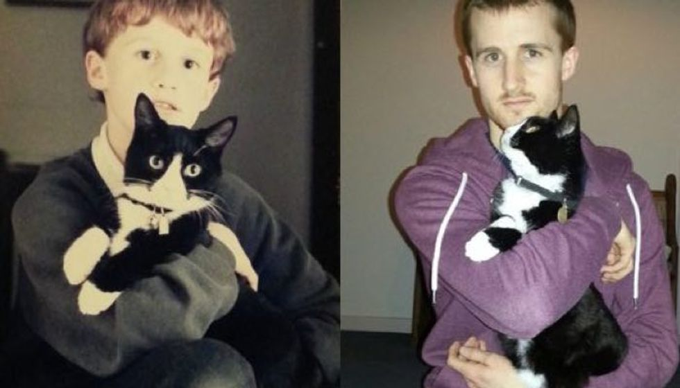 16 Years Of Friendship Between Cat And Her Human Best Friend