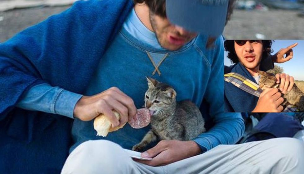 Syrian Refugee Travels Thousands of Miles with His Kitten to Hungary, Hoping to Start Again