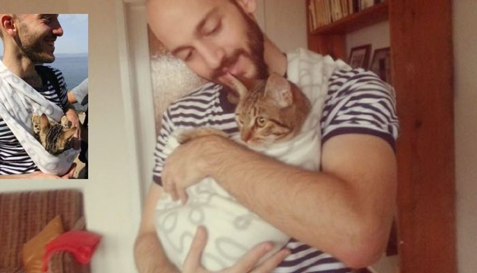 Cat Reunited with Syrian Refugee After Being Separated for Three Months