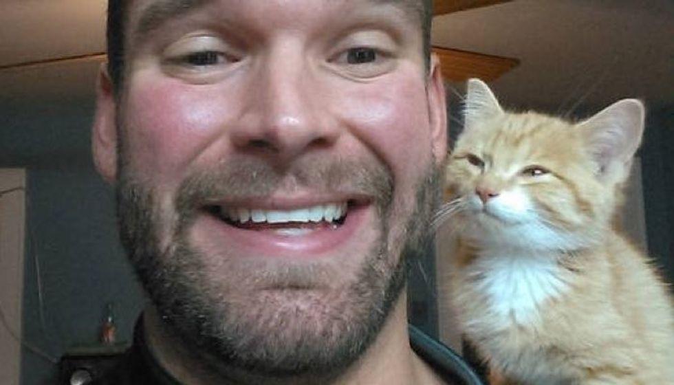 Stray Kitten Wanders Into A Man's Life