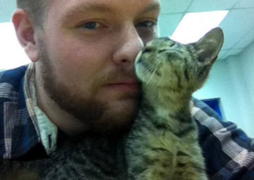 School Teacher Finds Stray Cat At Work