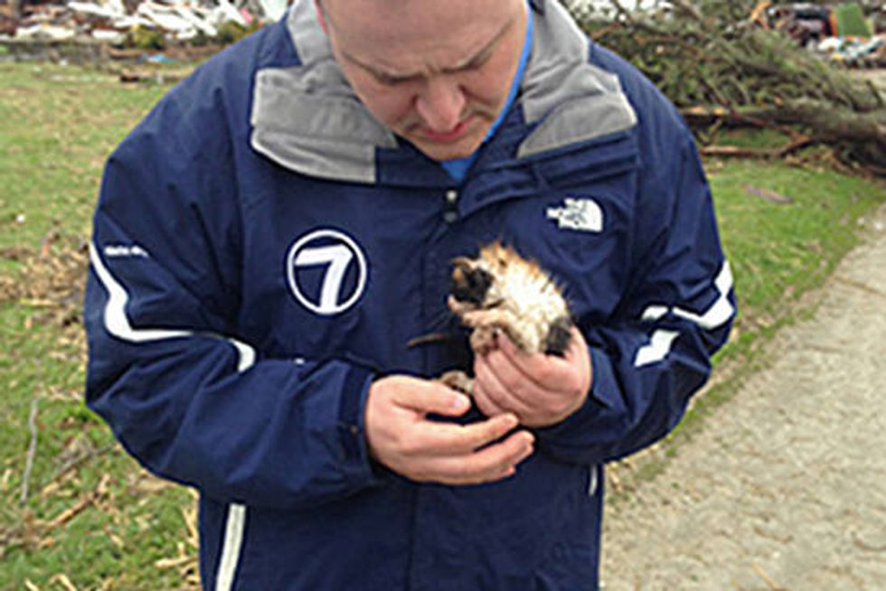 Kitten Rescued By Weatherman Reunited With Family