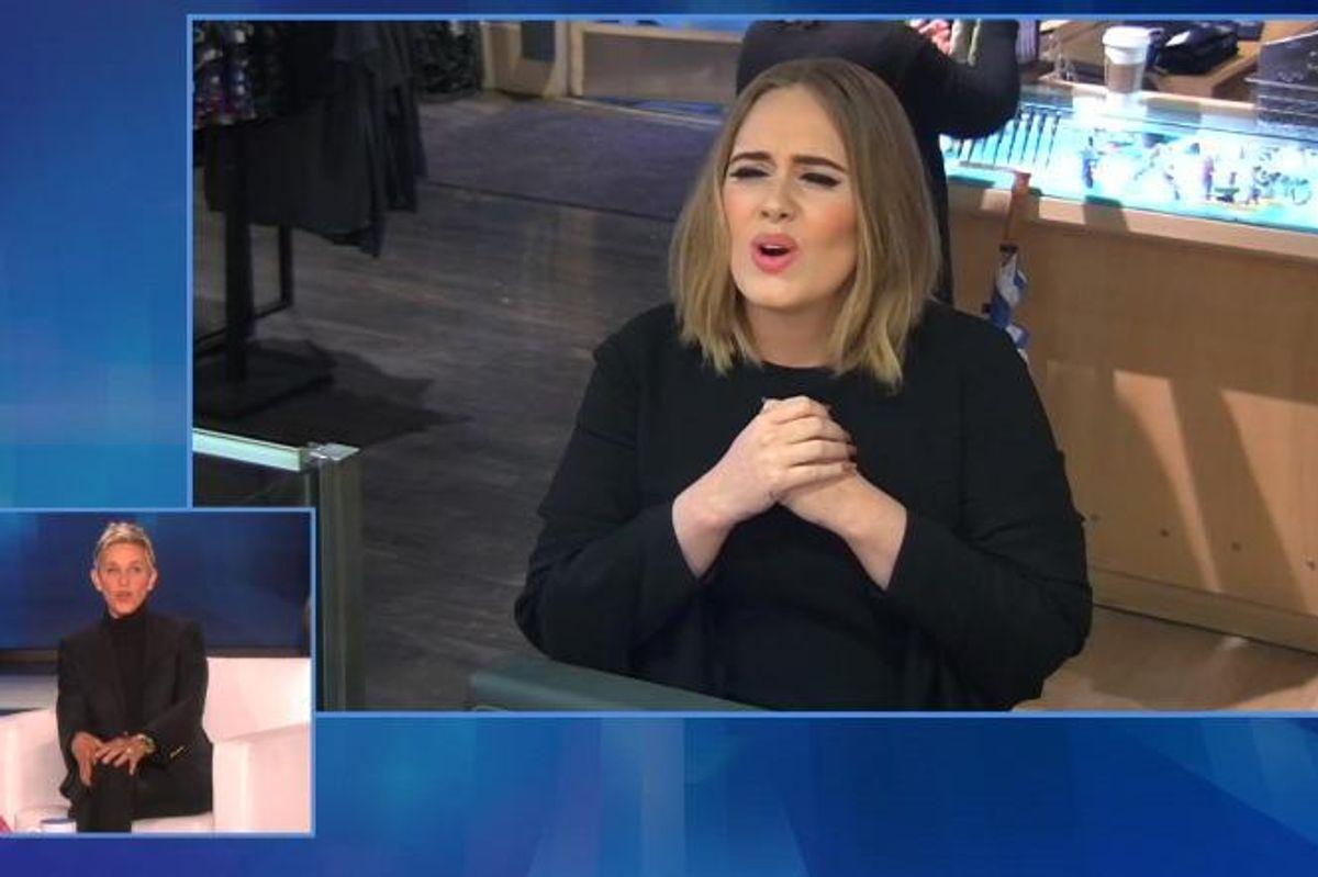 Watch Adele Invade Jamba Juice Under the Secret Direction Of Ellen
