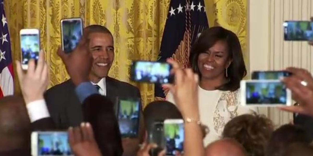 Watch President Obama and First Lady Michelle's Incredibly Funny Press Conference
