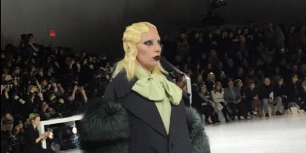 Lady Gaga Walked In Marc Jacobs' NYFW Show