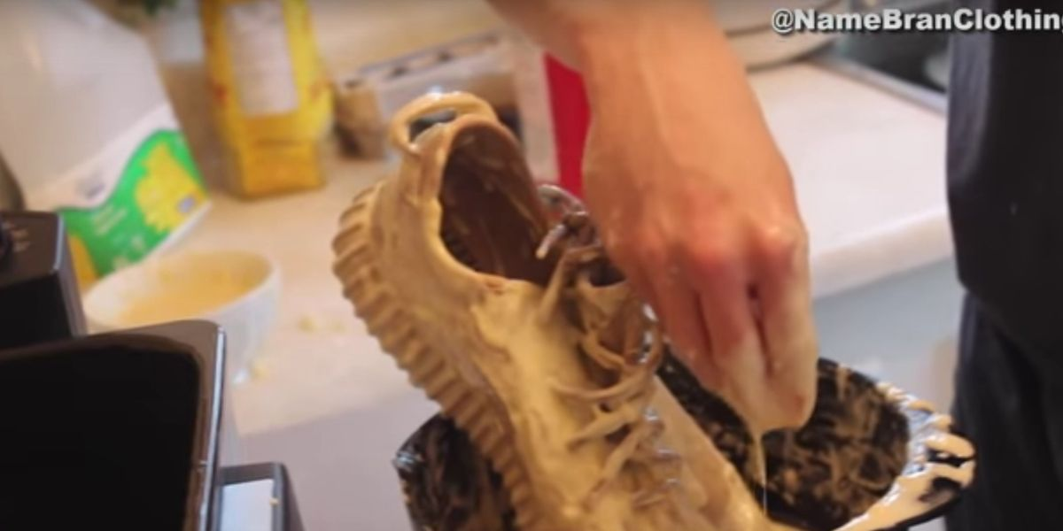Watch This Bro Deep Fry His Yeezys Because, Internet