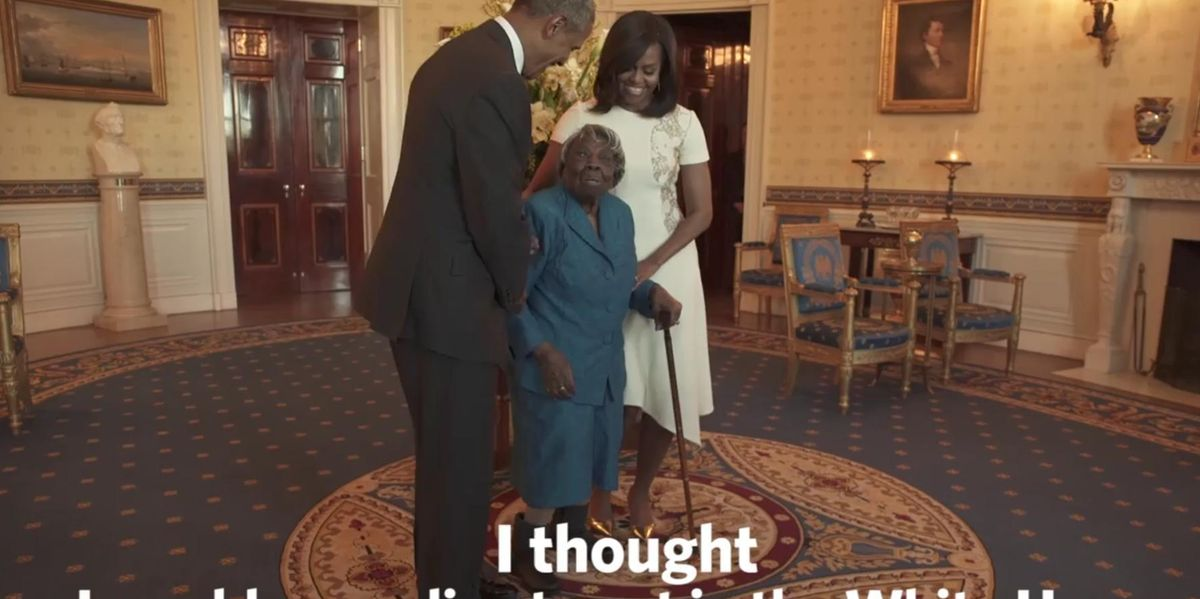 Watch President Obama and First Lady Michelle Dance With A 106-Year-Old Woman