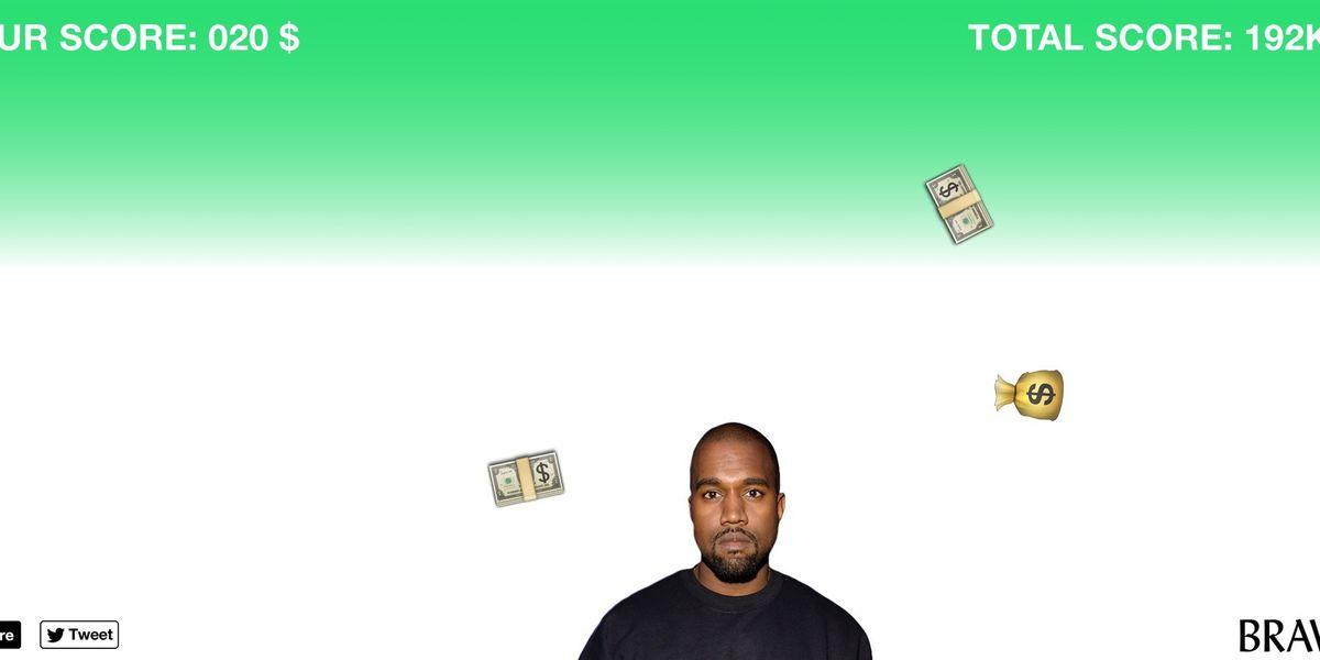 "Help Kanye Absolve His $53 Million Debt Via The New ""Kanyestarter"" Game"