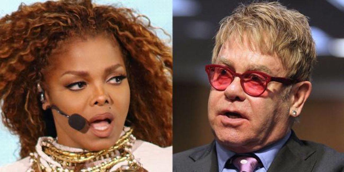 Elton John Isn't A Fan Of Lip-Syncing: Janet Jackson Edition