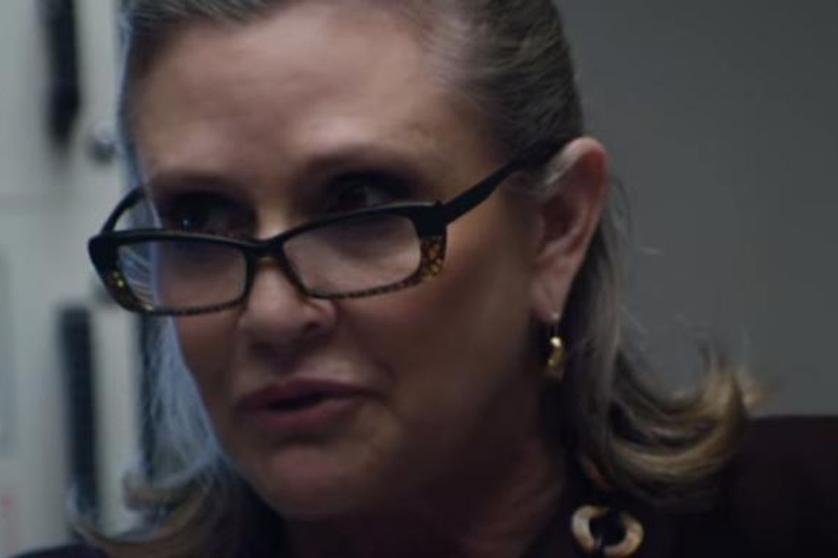 Watch Carrie Fisher Star As a Robot Group Therapy Counselor In IBM's New Watson Ad