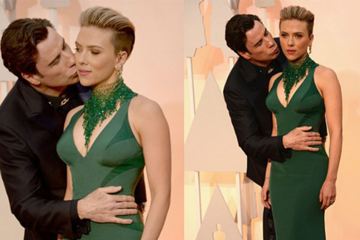 In Memoriam: Our Collective Reality, After Seeing This Photo of John Travolta and Scarlett Johansson At the 2015 Oscars