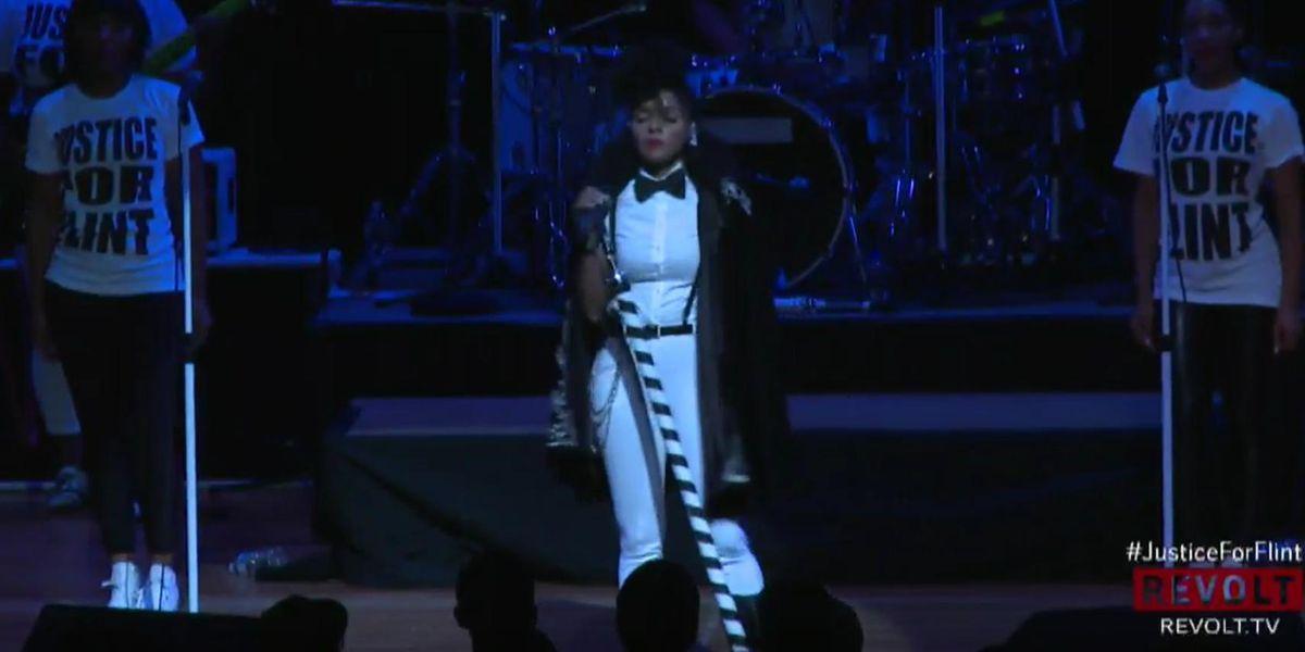 Janelle Monae And Stevie Wonder Performed For Flint Last Night, Raise Over $145,000