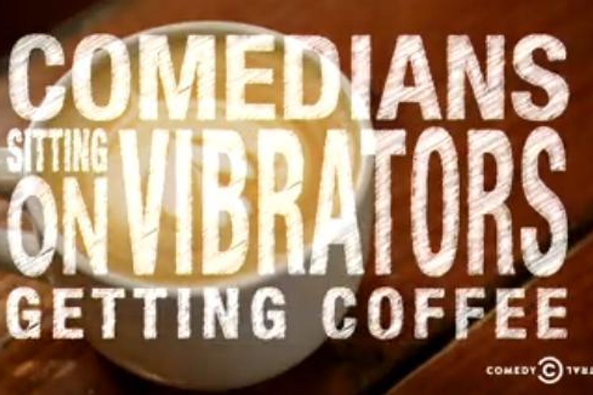 Watch Nikki Glaser and Sara Schaefer Star In 'Comedians Sitting On Vibrators Getting Coffee""