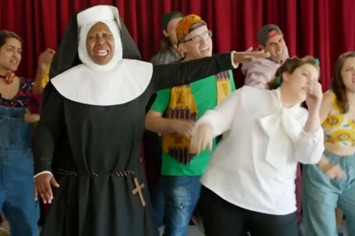 Broad City Paid Homage to 'Sister Act 2' Last Night, With A Cameo By Queen Whoopi Herself