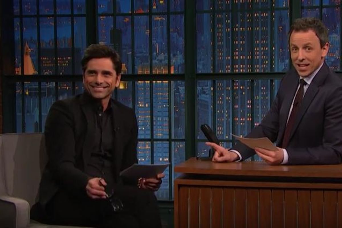 Watch John Stamos and Seth Meyers Read Terrible Reviews of 'Fuller House' Together