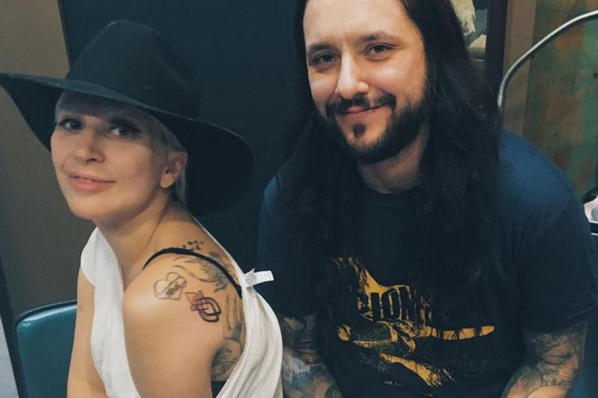 Lady Gaga Got Matching Tattoos With The Other Sexual Assault Survivors At Her Oscars Performance