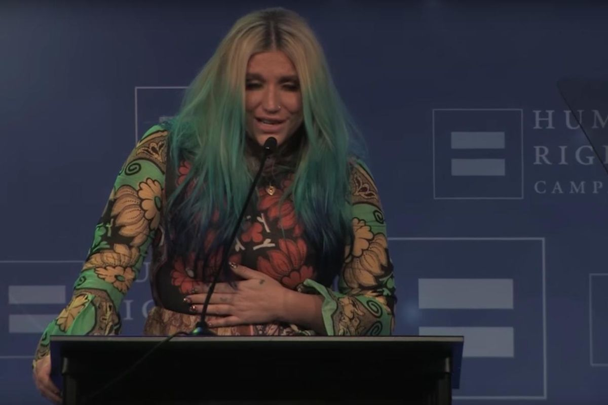 Watch Kesha Address Her Legal Battle In A Poignant Human Rights Campaign Speech