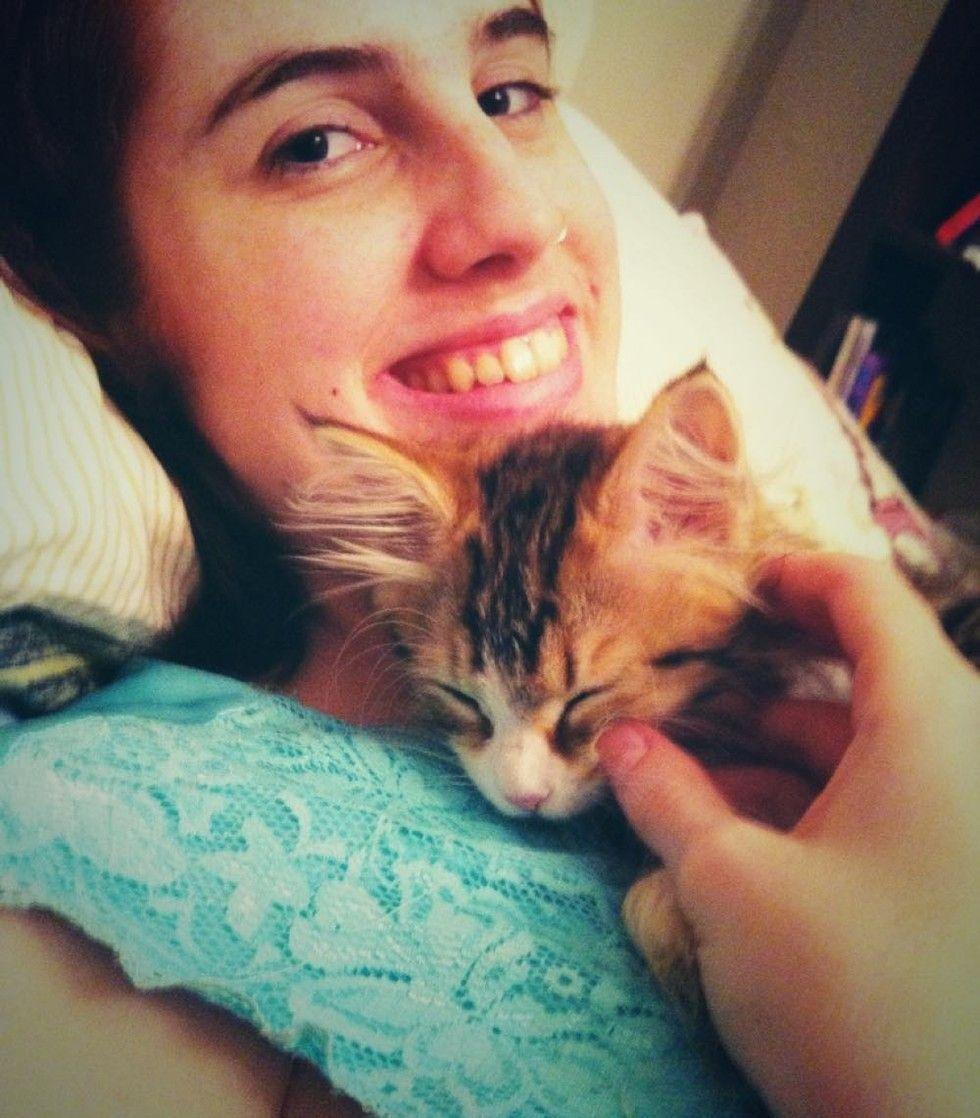 cat saves my life