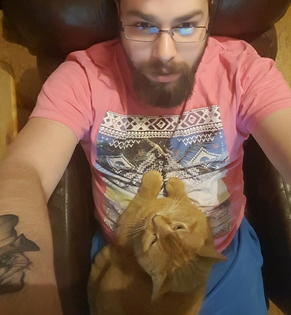 ginger cat chose his human half a mile away