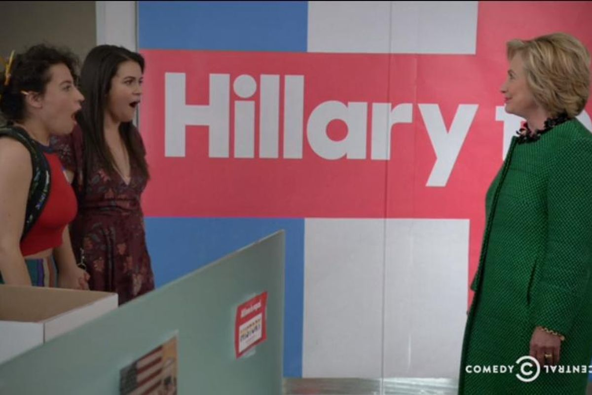 Watch the Broad City Girls Lose It Meeting Hillary Clinton