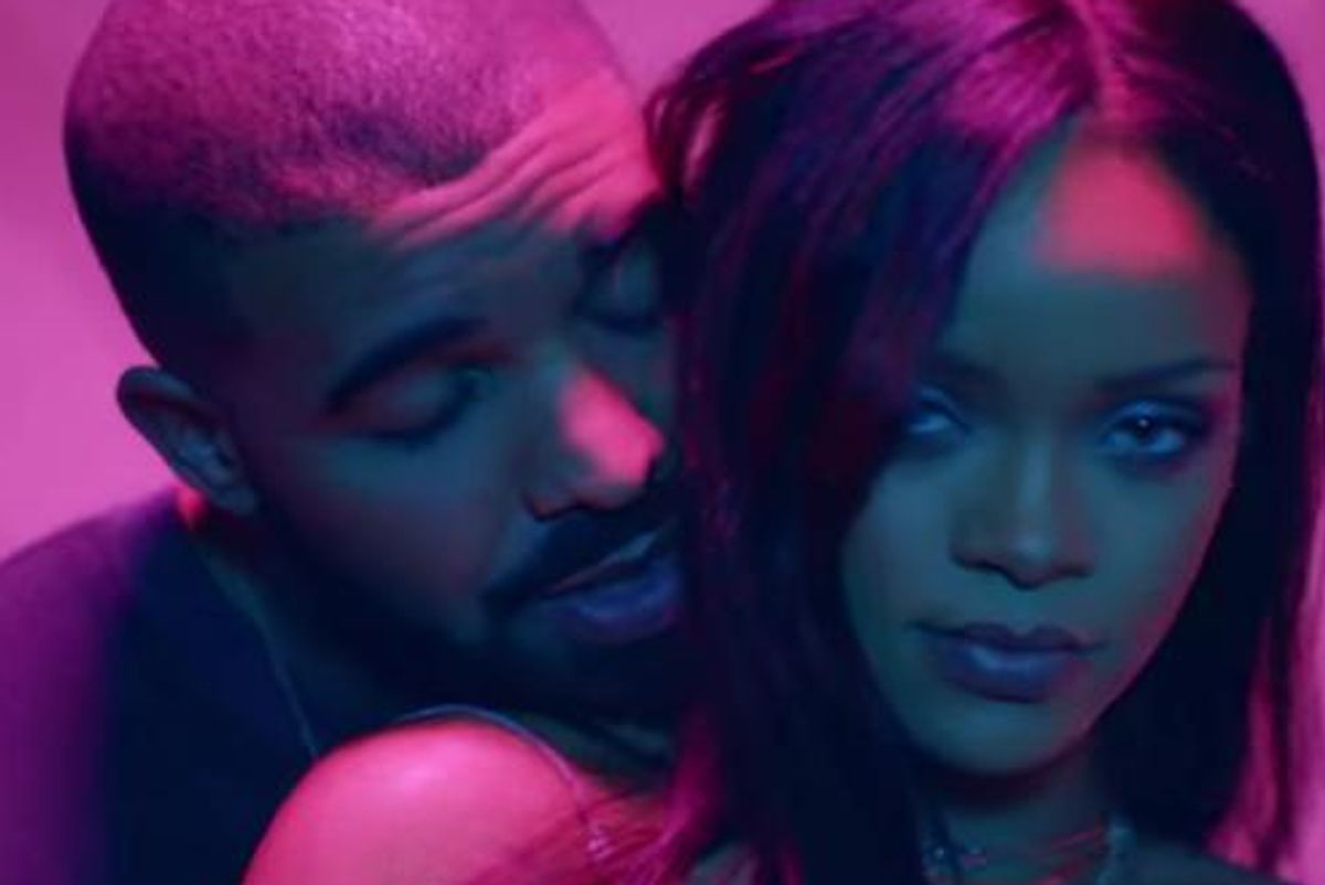 Drake and Rihanna Get Flirty, Almost Kiss Onstage During ANTI Concert