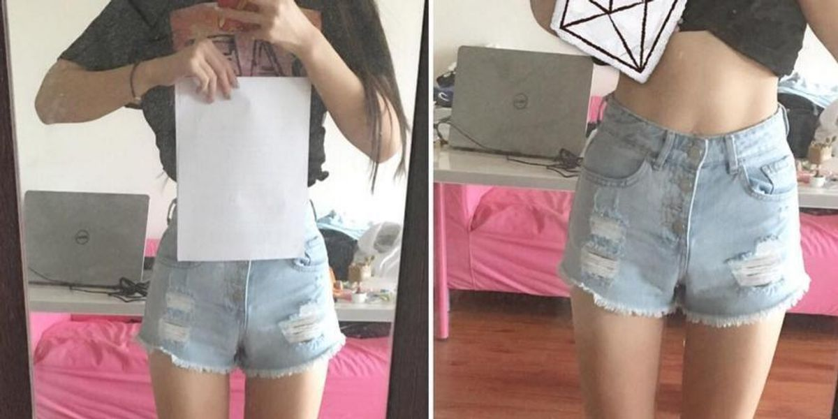 The Internet's Latest Body-Shaming Tactic Challenges Women To Be Thinner Than A Sheet Of Paper