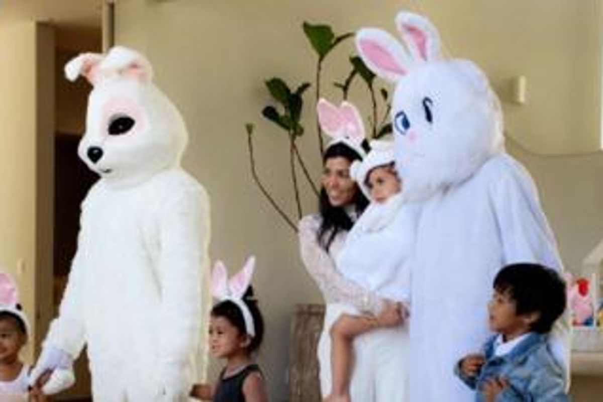 """Kanye and Tyga Channel Some """"Donnie Darko"""" Vibes In The Name Of Easter"""