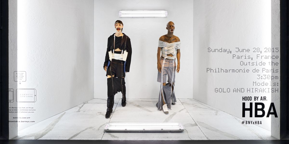 Check Out Hood By Air's Scary-Realistic Barneys Windows