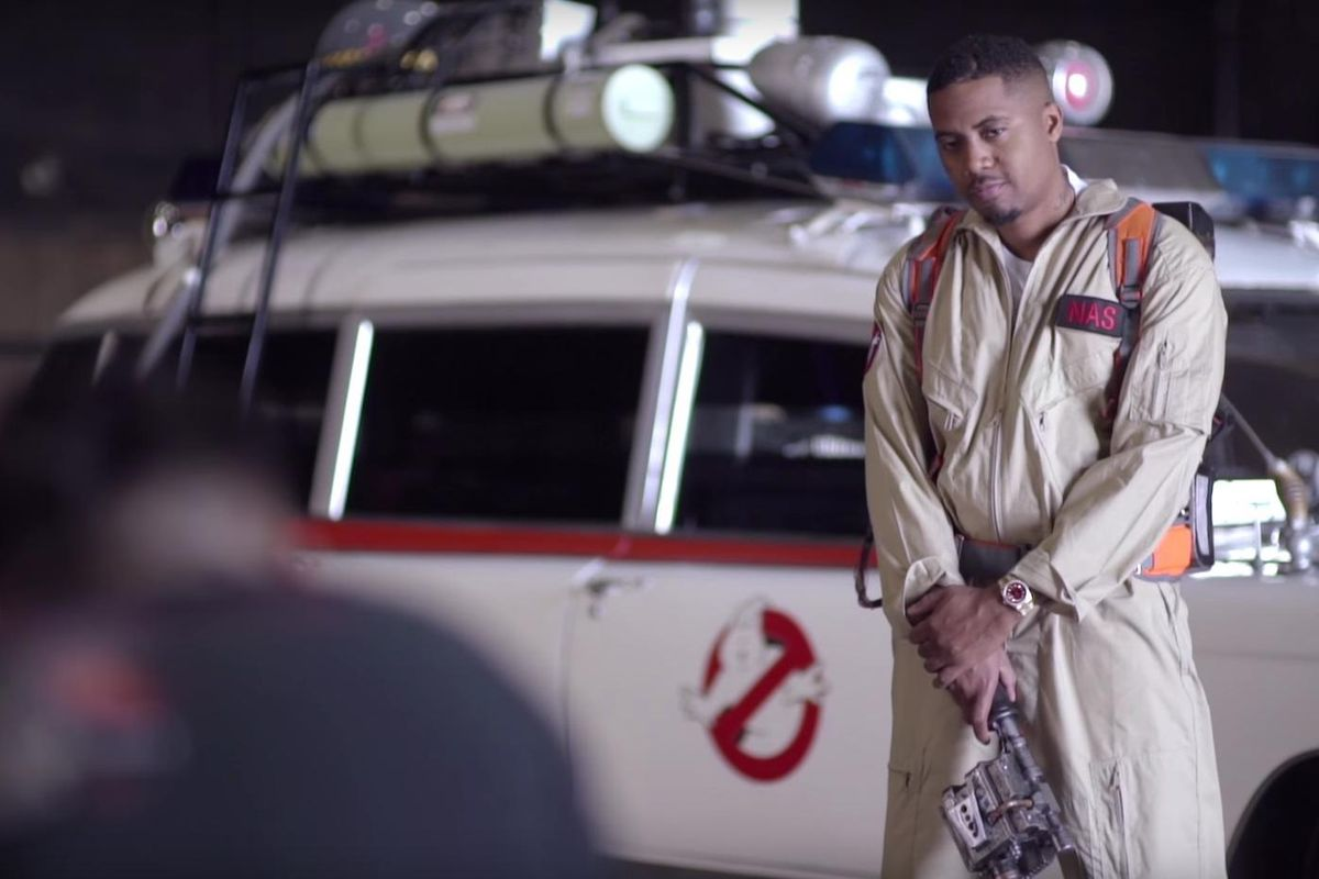Nas Is Releasing A Ghostbusters-Inspired Fashion Line