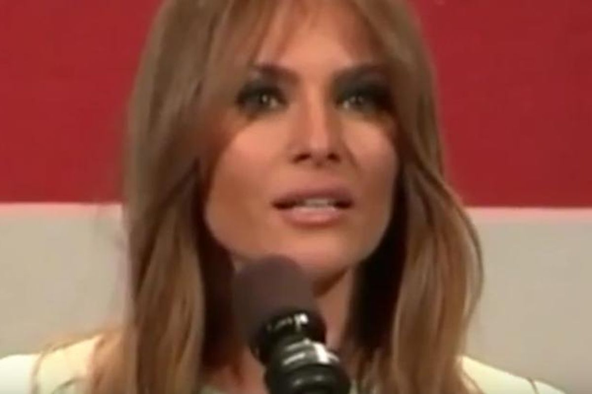 Watch Super Deluxe's Edited (And Perfect) Clip Of Melania Trump Speaking At A Trump Rally