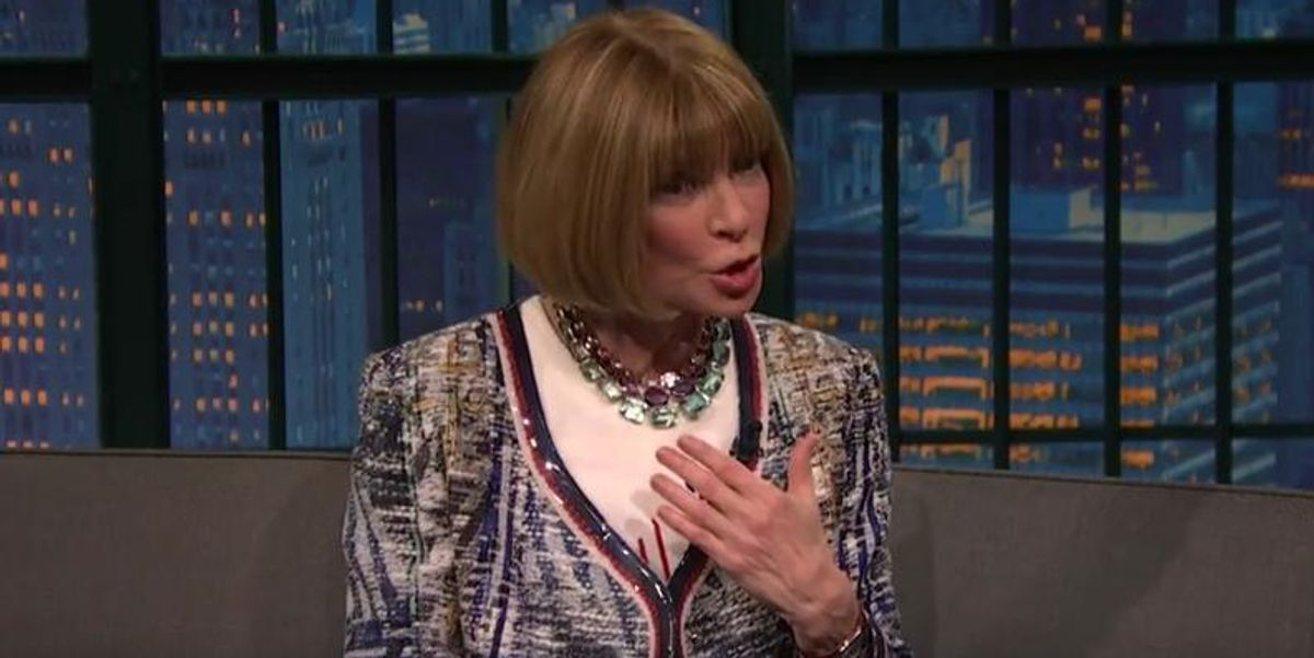 Anna Wintour Got Lost In the Basement Of Madison Square Garden During Kanye West's Show