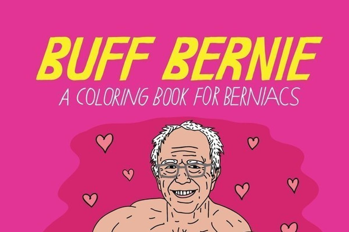 Feel the Bern in Technicolor With a Sexy Sanders Coloring Book