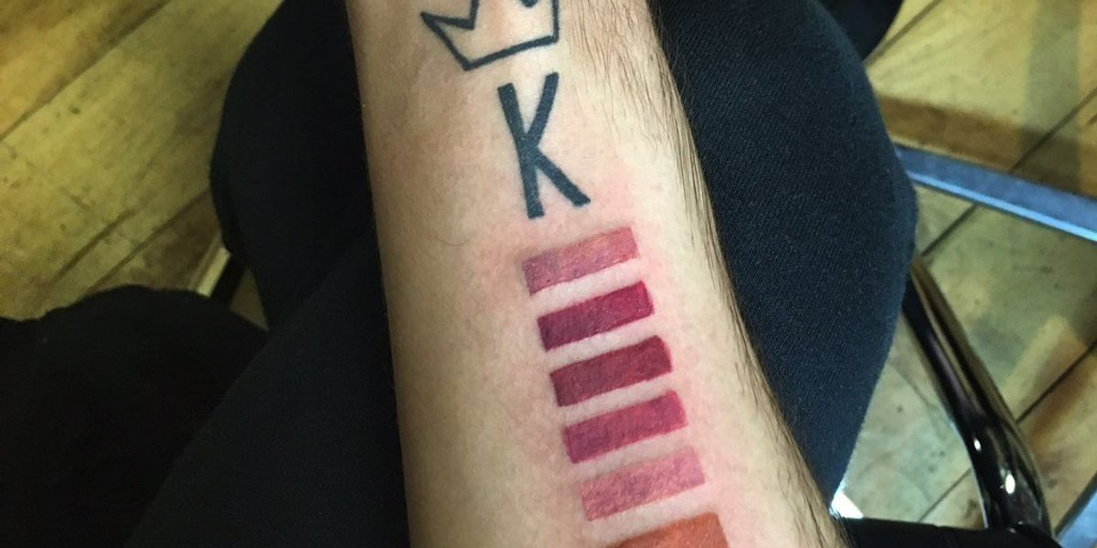 Someone Tattooed All of Kylie Jenner's Lip Kit Colors on Their Arm