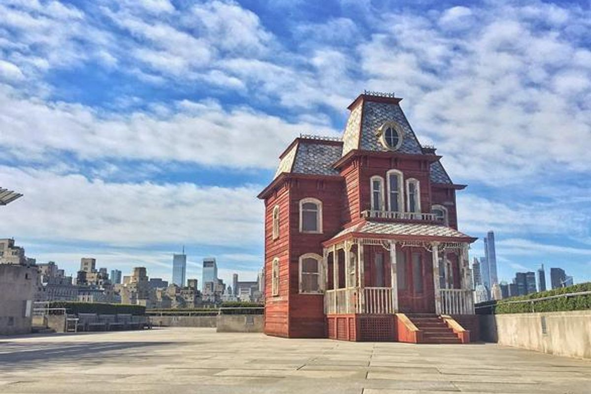 There's a Replica of the 'Psycho' House on the Roof of the MET
