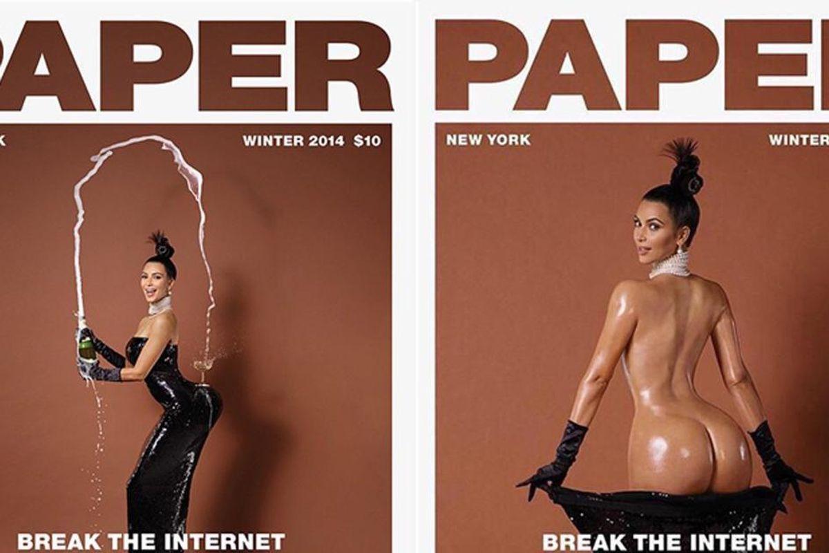 """Nude Selfies Till I Die:"" Watch Kim Kardashian Accept the #BreakTheInternet Award"
