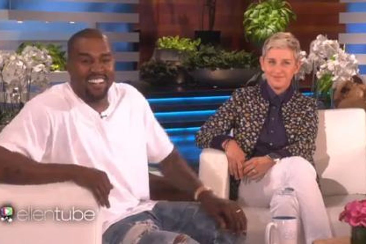 Kanye Shakes Up Daytime TV With His Ellen Show Appearance