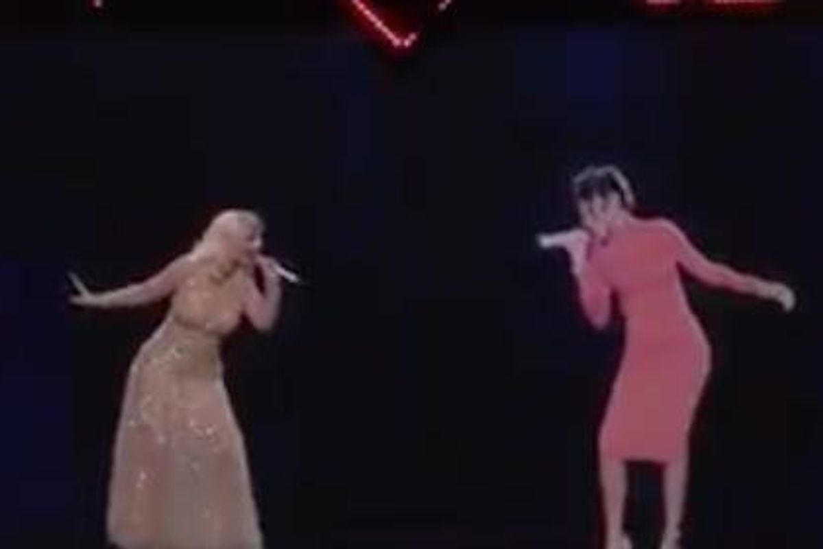 Behold the Holy Horror of Christina Aguilera Dueting With Hologram Whitney Houston
